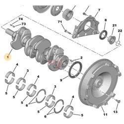 2014-> Peugeot Boxer Citroen Jumper  2.0 Bluehdi Gyári főtengely Gyári számok: 0501N8