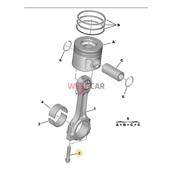 Hajtókar Csavar Citroen Jumper Peugeot Boxer 2.2HDI  06- Gyári szám:0607.63