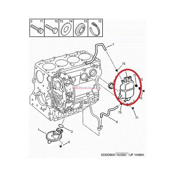 Kartergáz gyűjtő Citroen Jumper Peugeot Boxer 2.8HDI  -06 Gyári szám: 1180K5