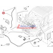 2006-> Ducato Jumper Boxer motorháztető kitámasztó Gyári számok: 1342117080 792753