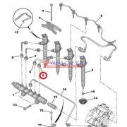 Nagynyomású cső Citroen Jumper Peugeot Boxer 2.2HDI BOX 06- 1. injektor Gyári szám: 1570K6
