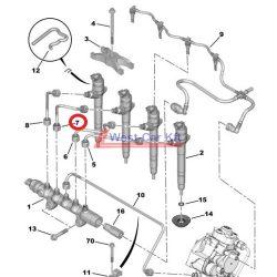 Üzemanyagcső Citroen Jumper Peugeot Boxer 2.2HDI BOX 06- 3 INJ. Gyári szám: 1570K8