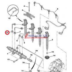 Üzemanyagcső Citroen Jumper Peugeot Boxer 2.2HDI BOX 06- 4 INJ. Gyári szám: 1570K9