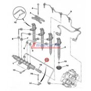 Üzemanyagcső pumpa-közösnyomócsőig Citroen Jumper Peugeot Boxer 2.2HDI BOX 06- Gyári szám: 1570L2