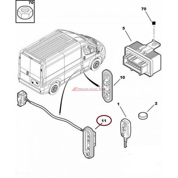 Tolóajtó elektromos érintkező Citroen Jumper Peugeot Boxer 06- Gyári szám:1610220880