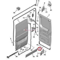 """Jobb hátsó alsó ajtózsanér  Citroen Jumper Peugeot Boxer 06- 180"""" Gyári szám:1617323580"""