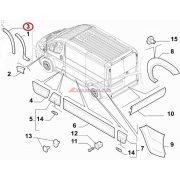Ajtó díszléc Jobb első Citroen Jumper Peugeot Boxer/ 06-  Gyári szám:1617347380