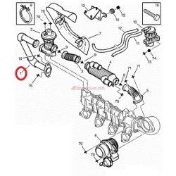 EGR valve pipe Citroen Jumper Peugeot Boxer 2002- 2.2HDI original number: 1628XA