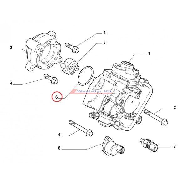 High pressure pump O ring Citroen Jumper Peugeot Boxer 2