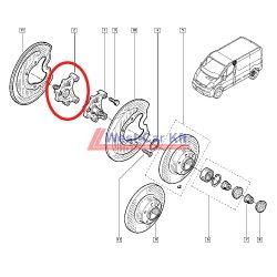 2014-> Renault Trafic Nissan NV300 Opel Vivaro rear right wheel hub OE: 430421801R