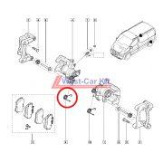 2001-> Renault Trafic Opel Vivaro gyári jobb hátsó féknyereg  rugó Gyári szám: 7701052563