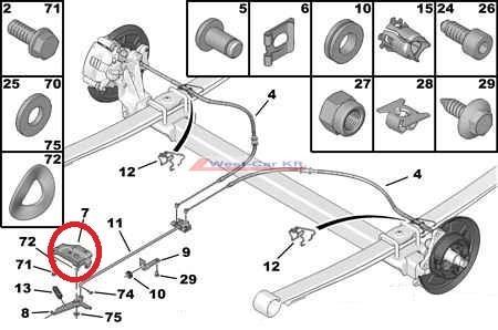 Kézifékállító tartó Citroen Jumper Peugeot Boxer 06- Gyári