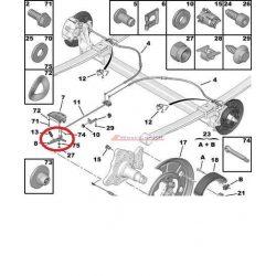 Kézifék állító csatlakozó Citroen Jumper Peugeot Boxer 06-  Gyári szám:477220