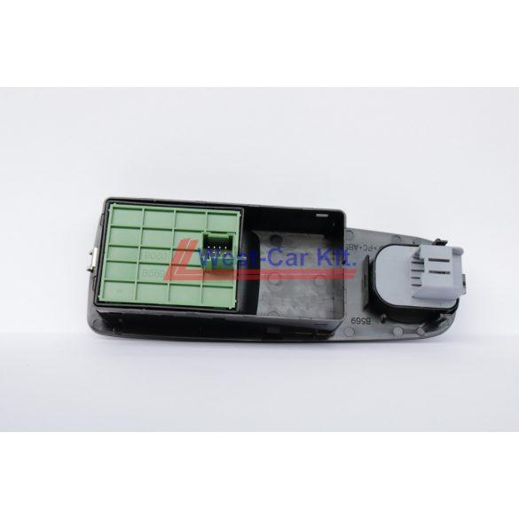 2012-> Ducato, Boxer, Jumper Vezetőoldali dupla ablakemelő kapcsoló panellal tükörállítóval ZÖLD elektronika Gyári szám: 735532905