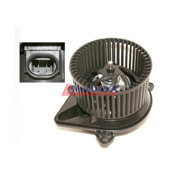 2001-> Renault Trafic Opel Vivaro utángyártott fűtőmotor (ovális csatlakozós) Gyári szám: 7701050310