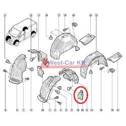 2001-> Renault Trafic Opel Vivaro Bal első sárfogó gumi Gyári szám: 8200081104