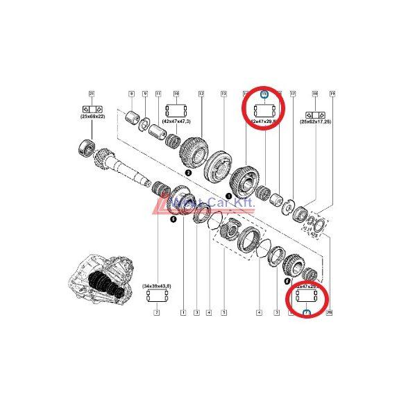 2010-> Renault Master Opel Movano Nissan NV400 2.3 Dci tűgörgős csapágy Gyári szám: 8200117772