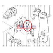 2001-> Renault Trafic Opel Vivaro gyári (Nissan) hátsó zárbowden díszléc Gyári szám: 8200148264