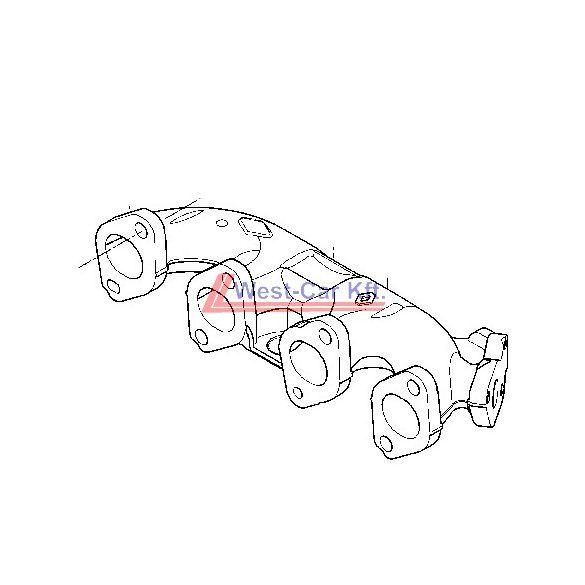 2010-> Renault Master Renault Trafic 2.0 / 2.3 Dci kipufogósor Gyári szám: 8200868133