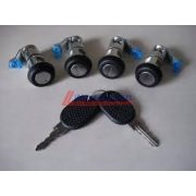 Iveco Daily Lock cylinder SET (left-right front,sliding door, rear door) with 2 keys  2000-2006