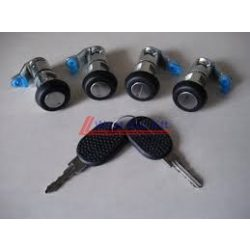 Iveco Daily Lock cylinder SET (left-right front,sliding door, rear door) with 2 keys  2000-2006