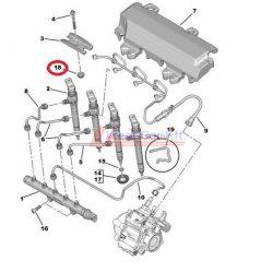 Injektor tartó tömítés Citroen Jumper Peugeot Boxer 2.2HDI BOX 12- Gyári szám:9677890580