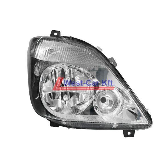 2006-2013 Mercedes Sprinter Jobb fényszóró, elektromos magasság állító motorral Gyári szám: A9068200661